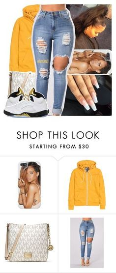 """"" by lamamig ❤ liked on Polyvore featuring H&M, MICHAEL Michael Kors and NIKE"
