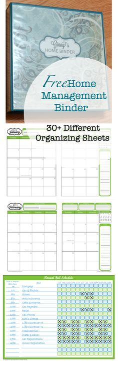 Free Home Management Binder Printables from fab n' free