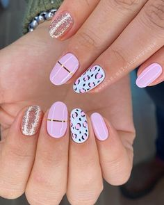 Leopard Nail Designs, Manicure Nail Designs, Leopard Nails, Nail Manicure, Summer Stiletto Nails, Glitter Gel Nails, Pink Nail Art, Neutral Nails, Color Street Nails