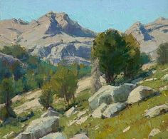 High in Lamoille Canyon by Jean LeGassick Oil ~ 10 x 12