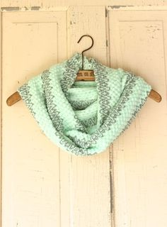 Moon Mint & Gray Infinity Scarf - country boutique - shoprustichoney.com