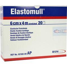 ELASTOMULL 6 cmx4 m 2100 elastisch Fixierb.:   Packungsinhalt: 20 St Binden PZN: 05529337 Hersteller: Bios Medical Services GmbH Preis:…