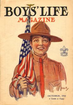 Happy Birthday to BSA Legend Norman Rockwell! - Heads Up . Norman Rockwell, Old Magazines, Vintage Magazines, Boys Life Magazine, Capture The Flag, Life Cover, Vintage Boys, Portfolio, Happy Kids