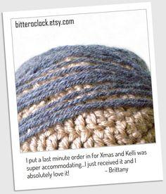 Crochet Combover Hat by bitteroclock