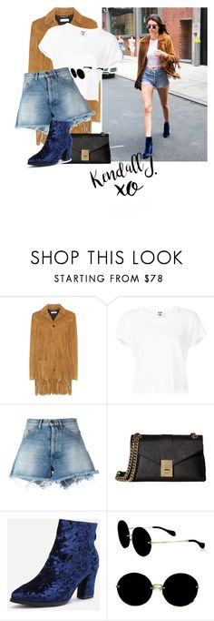 """""""❤❤"""" by fashiontaken1 ❤ liked on Polyvore featuring Yves Saint Laurent, RE/DONE, Off-White, Calvin Klein, Miu Miu and xO Design"""