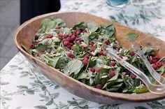 Raspberry and Spinach Salad.