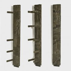 Sculpted Bronze Pilasters with Shelves   Paul Evans, Sculpted Bronze Pilasters with Shelves (1970)