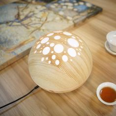 12W Air Humidifier/ Essential Oil Diffuser With Wood Grain