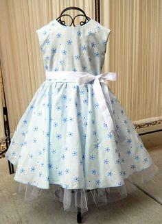 ff93d7926e0 Blue Floral Girls Dress by SoFabulousKids on Etsy
