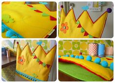 Birthday child crown to slip over the back of their chair!