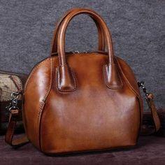 Handmade Vintage Leather Purse, Women Messenger Bag, Handbags A0143