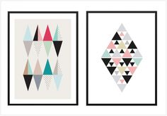 Where to find Scandinavian style geometric posters Geometric Poster, Geometric Art, Poster Art, Deco Originale, Blog Deco, Deco Design, Scandinavian Style, Decoration, Living Room Decor