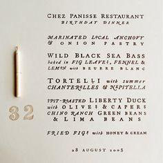 Chez Panisse Restaurant | Birthday Dinner