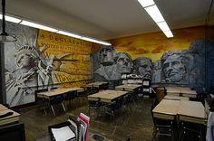 Joe Baron Design Presents The Designer's Blog: Coolest Social Studies Classroom by Higher Level Art