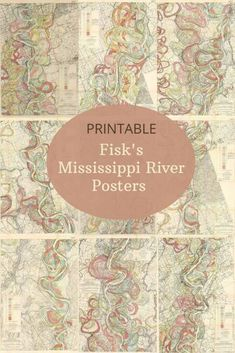 A stunning collection of cool maps of the Mississippi river to download including the colorful meandering maps of Harold Fisk. Free to download in high resolution large maps available over 22 to choose from. Cotton Plantations, Mountain Sketch, Us State Map, Map Crafts, Printable Maps, Free Printable, Printables, Tourist Map, Army Corps Of Engineers
