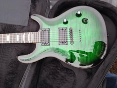 Kiesel Guitars Carvin Guitars CT624 Deep Green Quilted Maple top