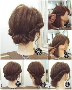 14 Stylish Easy Hairstyles Step By Step DIY Are you feeling bored with your regular look? That is quite normal when you have been wearing the same hairstyle for a long time. But, we all know that changing your hairstyle is difficult. It is quit Work Hairstyles, Popular Hairstyles, Everyday Hairstyles, Bride Hairstyles, Teenage Hairstyles, Simple Hairstyles, Short Hair Updo, Curly Hair Styles, Hair Arrange