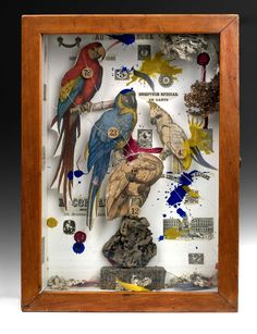 """Exhibition: 'Joseph Cornell: Wanderlust' at the Royal Academy of Arts, London. """"Joseph Cornell is my favourite artist that has ever lived on this Earth."""" http://artblart.com/2015/09/25/exhibition-joseph-cornell-wanderlust-at-the-royal-academy-of-arts-london/ Art work: Joseph Cornell. 'Habitat Group for a Shooting Gallery' 1943"""