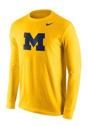Nike Michigan Mens Gold Logo Tee