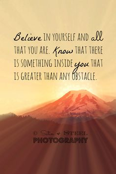 This is a great quote. Always believe in yourself. If you always are hard on yourself, saying I can't do it, then you can't. But if you believe and tell yourself you can, you will be able to do anything. Weight Loss Before, Weight Loss Program, Mantra, Motivational Quotes, Inspirational Quotes, Inspiring Sayings, Wise Sayings, Uplifting Quotes, Motivational Wallpaper