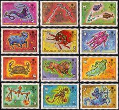 Republic of Maldives zodiac stamp series, 1974