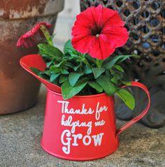 watering can as flower pot teacher thanks #teacherappreciationgifts