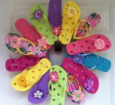 flip flop wreath | Etsy summer flip flop wreath
