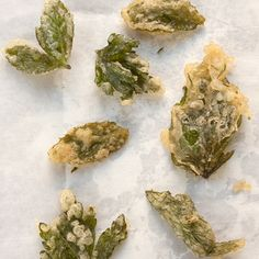Herb Tempura: use as many herbs as possible when making this crispy tempura. They are delicious served before dinner with champagne or a champagne cocktail.