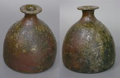 Japanese pottery  - Tanba (Tamba) tokkuri sake bottle