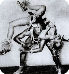 "Joséphine Baker & Joe Alex perform the ""Danse Sauvage"" from La Revue Negre, the only documentation we have is a series of photos that tried to capture the dance that set Paris alight and launched La Baker's career. There is no known footage of the original performance."