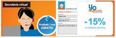 Secretaria virtual con Yorespondo - 1 mes gratis y 15% de descuento en todas las cuotas