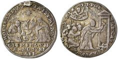 Very rare Pope Clemens VII quarto di ducato, Jubilee 1525. Church's Papal Vatican State.