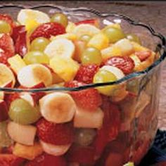 Fruit Salad with Apricot Dressing Recipe ~ the bowl empties fast!