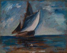 Carlo Carrà (1881–1966) Marina con veliero , 1927