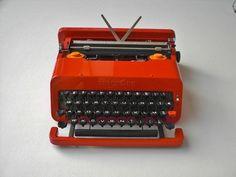Olivetti Valentine Typewriter by E.Sottsass by BettyHome on Etsy, $360.00