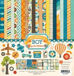 All About A Boy 12X12 Collection Kit by Echo Park Paper Co. - Two Peas in a Bucket