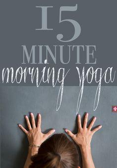 Pin it! 15 Minute morning yoga video. Photo: Manduka eKo Lite mat (review) Video: Manduka black mat PRO (review)