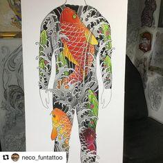 Japanese Tattoo Designs, Japanese Tattoo Art, Japanese Design, Leg Tattoos, Black Tattoos, Koi Dragon Tattoo, Naruto Tattoo, Irezumi, Tattoo Sketches