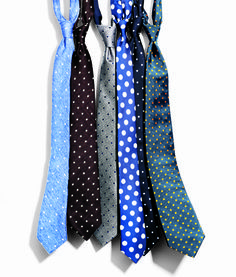 From Damien Hirst's famous paintings to Burberry's polka-dot-filled fall collection. Just don't let your circles grow too clownishly big, and keep your dress shirt simple. Tie, $195, by Burberry Prorsum. Suit by J.Crew. Shirt by Jil Sander. Pocket square