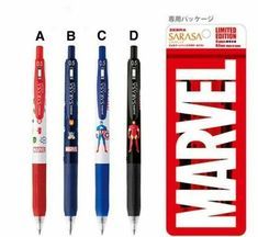 The pen is only available in 0.5mm. To purchase them, you may click on the website in the link below.                                          1 pen : $2.50 Sarasa Pens, Photo Proof, Writing Pens, Cat Stickers, Sticky Notes, Coupon Codes, Stationery, Captain America, Iron Man