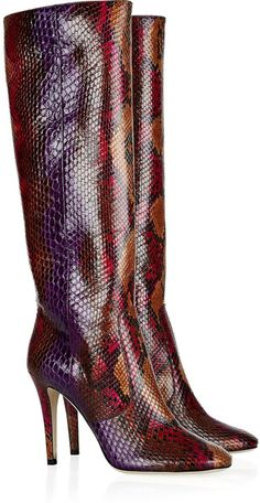 WOW!!! another first for The Boo'tique   JIMMY CHOO LONDON Tosca Python Knee Boots