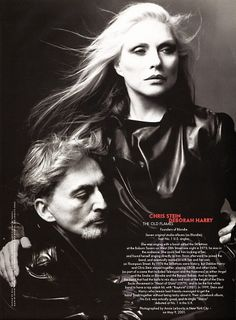 2001, photo by Annie Leibovitz for Vanity Fair of Chris Stein and Debbie Harry