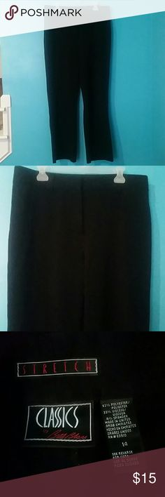 Black Slacks Bought for work but never wore them, soft material No pleats Classics Pants Trousers