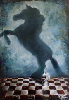 "Saatchi Art Artist Tatiana Siedlova; Painting, ""Series ""Play the game"". #3"" #art"