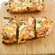 This bbq chicken french bread pizza is the perfect flavor combinations and comes together to make a quick and easy dinner your whole family will love.