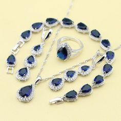 Blue Sapphired Flawless Jewelry Sets – uShopnow store