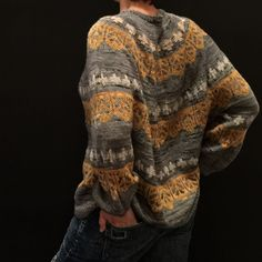 Пуловер с графическим жаккардом Tecumseh