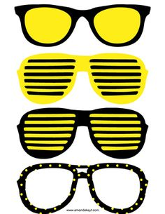 Glasses from Bee Birthday White Printable Photo Booth Prop Set