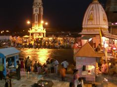 In Haridwar.. A Indian holy place... during the Maha aarti