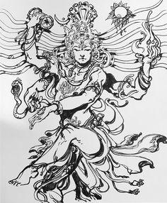 lord shiva by abhishek singh Shiva Tandav, Shiva Art, Krishna Art, Hindu Art, Indian Gods, Indian Art, Shiva Tattoo Design, God Tattoos, Lord Shiva Hd Wallpaper